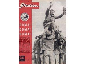 Časopis STADION, ročník 10, 29.VI.1962, číslo 26 (1)