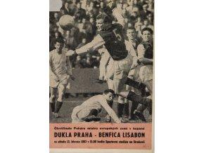 Porgram PMEZ, Dukla Praha vs. Benfica Lisabon, 1963