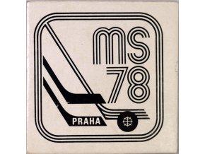 Pivní tácek MS Hokej 1978, Praha