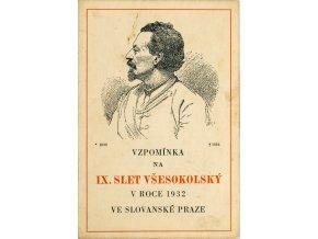 Tiskovina, Vzpomínka na IX. všesokolský slet, 1932 (1)
