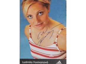Podpisová karta, Adidas, Ludmila Formanová, autogram (1)