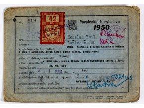 Tiskovina, Povolenka k rybolovu, 1950 (1)