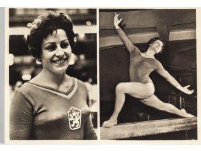 Pohlednice Věra Čáslavská, Gymnastika (1)