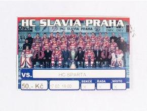 Vstupenka, HC Slavia Praha v. HC Sparta (1)