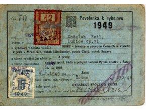 Tiskovina, Povolenka k rybolovu, 1949 (1)