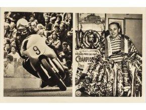 Pohlednice František Šťastný, motocyklový závodník (1)