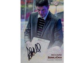 Podpisová karta, Richard Žemlička, autogram