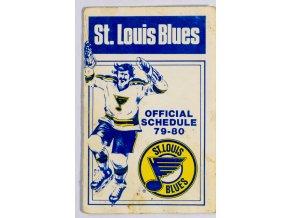 Tiskovina, Official Scheduke, St. Lois Blues, 1979 80 (1)