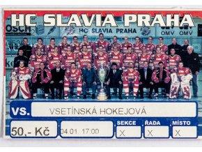 Vstupenka, HC Slavia Praha v. Vsetínská hokejová (1)