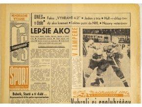 Noviny Československý sport, MS Lublan, 1966