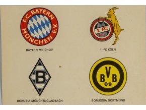 Kartička , Světová kopaná, Bayern, FC Koln, Monchengladbach, Bor. Dortmund (1)