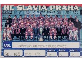Vstupenka, HC Slavia Praha v. České Budějovice (1)