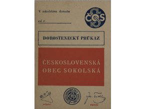 Dorostenecký průkaz Československé obce sokolské