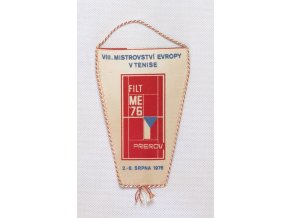 Klubová vlajka WIII.mistrovství evropy v tenise 1976