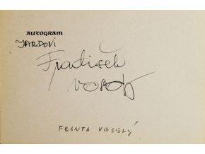 Autogram František Veselý I