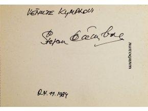Autogram Štefan Čambal