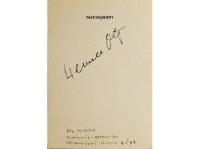Autogram Ota Hemele