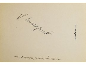 Autogram Josef Masopust