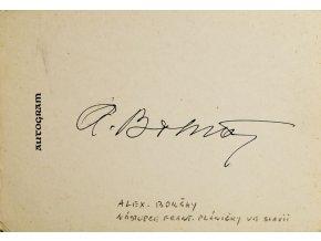 Autogram Alexa Bokšay II