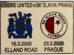 Odznak UEFA Leeds United vs Slavia Praha 2000 WHT