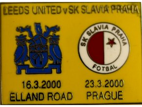 Odznak UEFA Leeds United vs Slavia Praha 2000 YEL