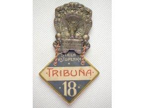 Odznak V. Všesokolský slet v Praze 1907, tribuna 18