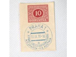 Ústřižek, příležitostné Praha 1 Sparta vs. F.K.Austria 1936. a.dng