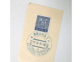 Ústřižek, příležitostné Praha 1 Sparta vs. F.K.Austria 1936. a II..dng