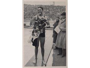 Kartička Olympia 1936, Berlin. Adolf Kiefer, USADSC 8239.dng