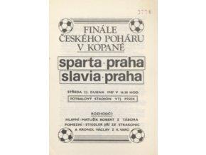Program Slavia vs. Sparta, 1987, finále ČPDSC 8336.dng