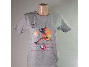 Dětské tričko šedé Fed cup 2018 SRDCE
