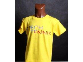 Dětské tričko CZECH TENNIS tmavě žluté