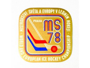 Samolepka 1978, MS Hokej Praha , zlatáDSC 9870