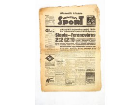 Noviny Nemzeti Sport, 1938, Slavia FerencvarosDSC 0110