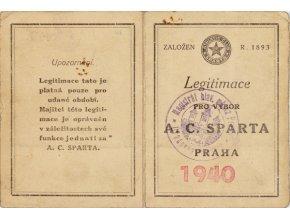 Legitimace pro výbor klubu A.C.SPARTA PRAHA z roku 1940DSC 2342