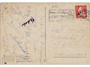 Pohlednice z Budapešti, Slavia , podpisy 1936DSC 2346