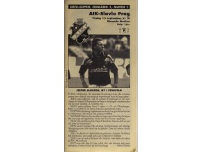 Program UEFA cup, AIK vs. Slavia PragDSC 4380