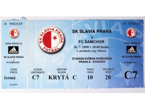 Vstupenka fotbal SK Slavia Prague vs. FC ŠamchorDSC 4346