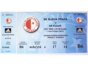 Vstupenka fotbal SK Slavia Prague vs. AB KodaňDSC 4345