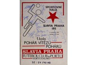 Program házená Slavia vs. Porto, 1979DSC 4354