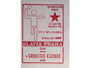 Program házená Slavia vs. Kaunas, 19870DSC 4355