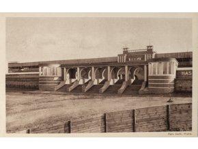 Pohlednice Vstupní brána stadion Strahov,1929DSC 5687