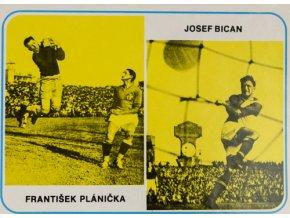 Kartička František Plánička, Josef Bican, GDSC 6042