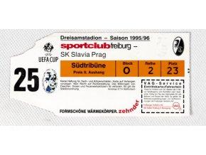 Vstupenka fotbal SC Freiburg vs. SK Slavia Prag, 95 96DSC 6056 3 (5)