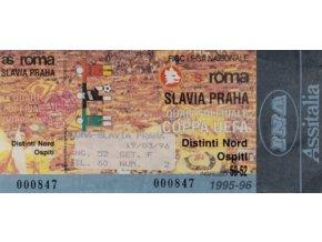 Vstupenka fotbal AS Roma vs. SK Slavia PRAHA, 1996DSC 6056 3 (1)
