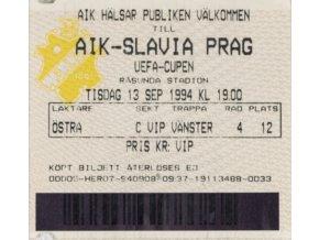 Vstupenka fotbal AIK vs. Slavia PRAG, 1994DSC 6056 3 (3)