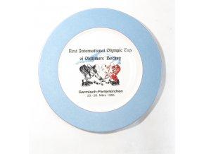 Porcelánový talíř pamětní, Garmisch, 1995, Oldtimers hockeyDSC 6158