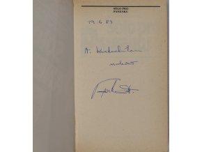 Kniha Sólo pro Panenku.Podpis Panenka.DSC 6412