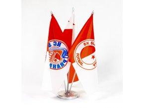 Vlajky Slavia Praha, stolníDSC 6869