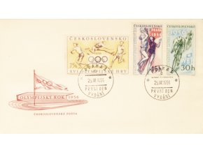 FDC Olympijský rok 1956 2DSC 6939